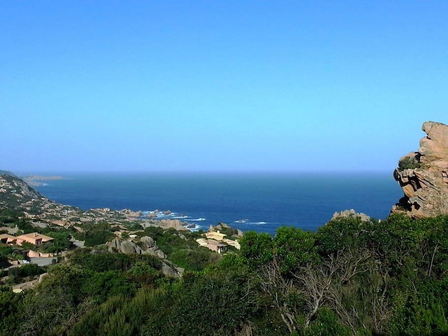 La vista dal terrazzo di ROCCETTE BLU