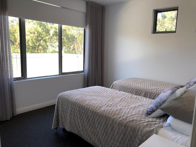 Bedroom Two has two singles that may be joined to create a king-sized double bed.  PLEASE REQUEST AT TIME OF BOOKING.
