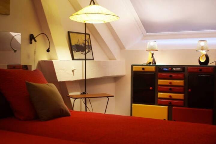 Le Loft en Champagne REIMS/EPERNAY Chambre NESTOR