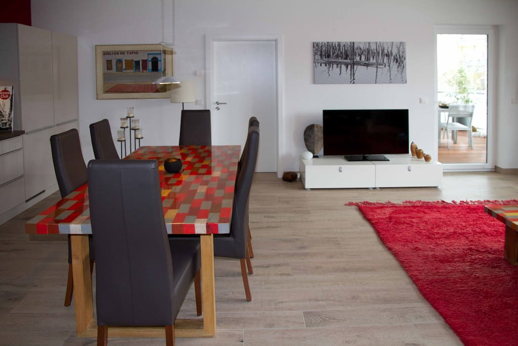 Küche, Esszimmer, Wohnzimmer