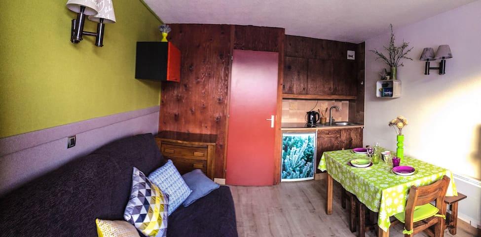 Studio rénové avec WIFI vue Mt Blanc - Taninges - Daire