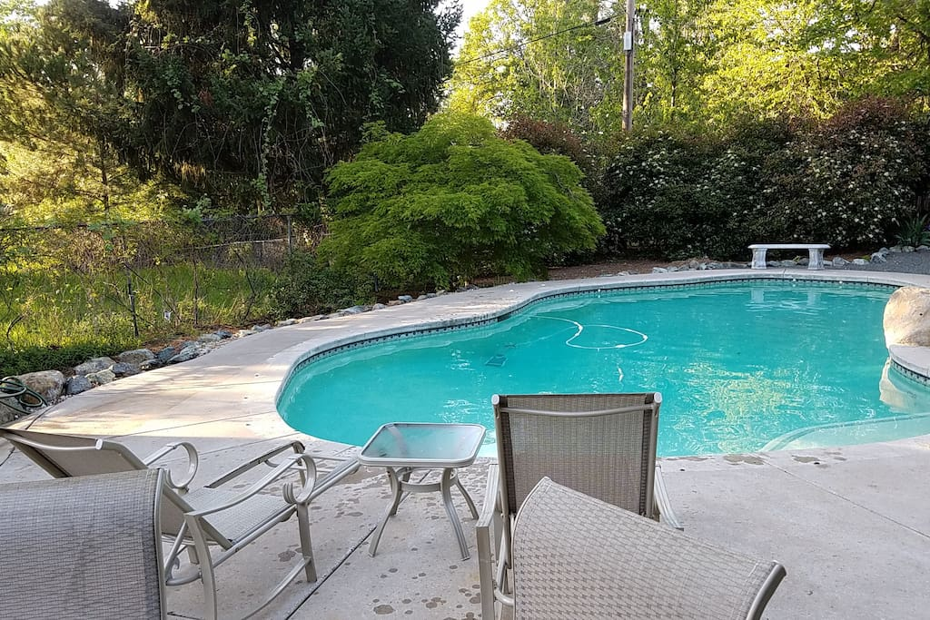 Pool patio and lower deck