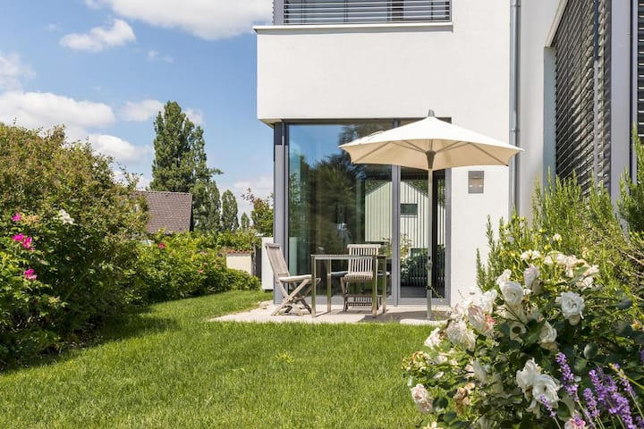 "Design Holiday Apartment ""Apartment Mettnau"" near Lake Constance with Wi-Fi, Terrace & Garden; Parking Available"