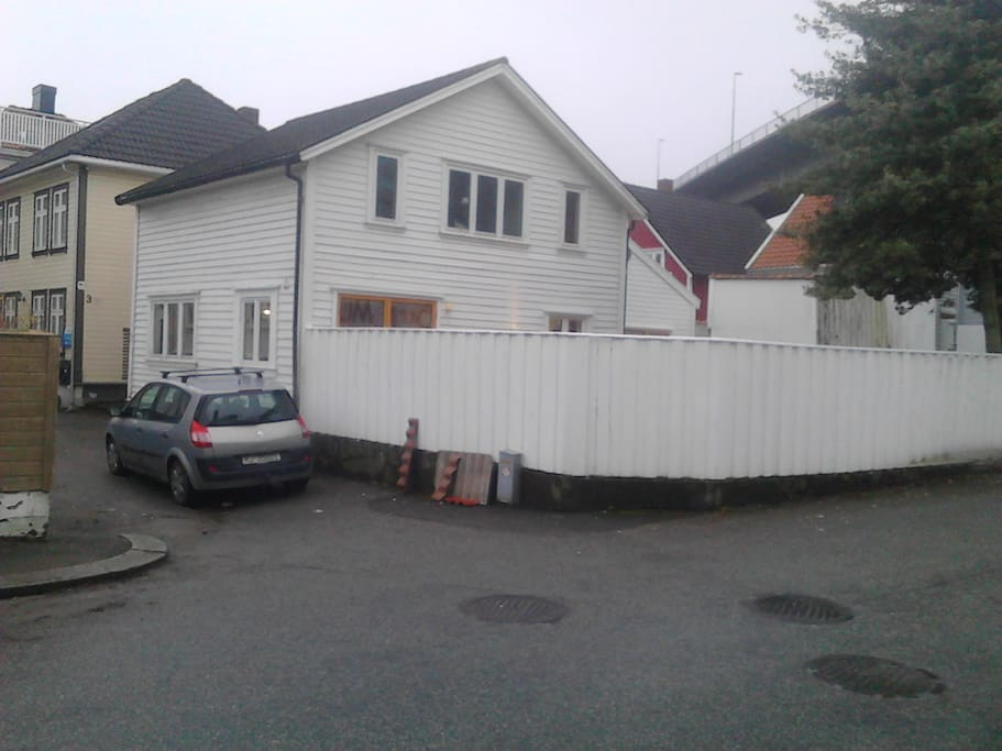 House viewed from Øvre Banegate