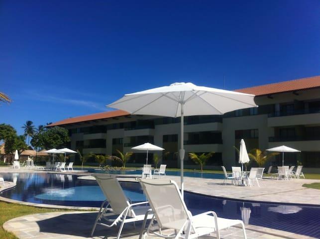 Ótimo flat no Carneiros Beach Resort (1 Quarto) - Tamandaré - Apartament
