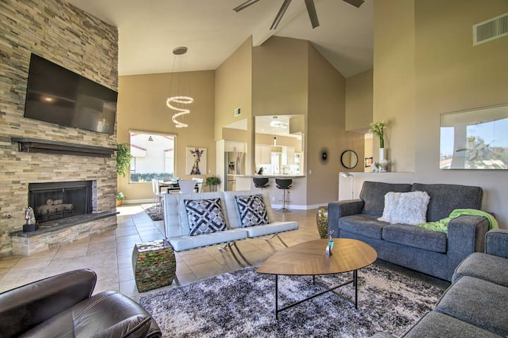 NEW! Chic Retreat on Golf Course w/ Mountain Views