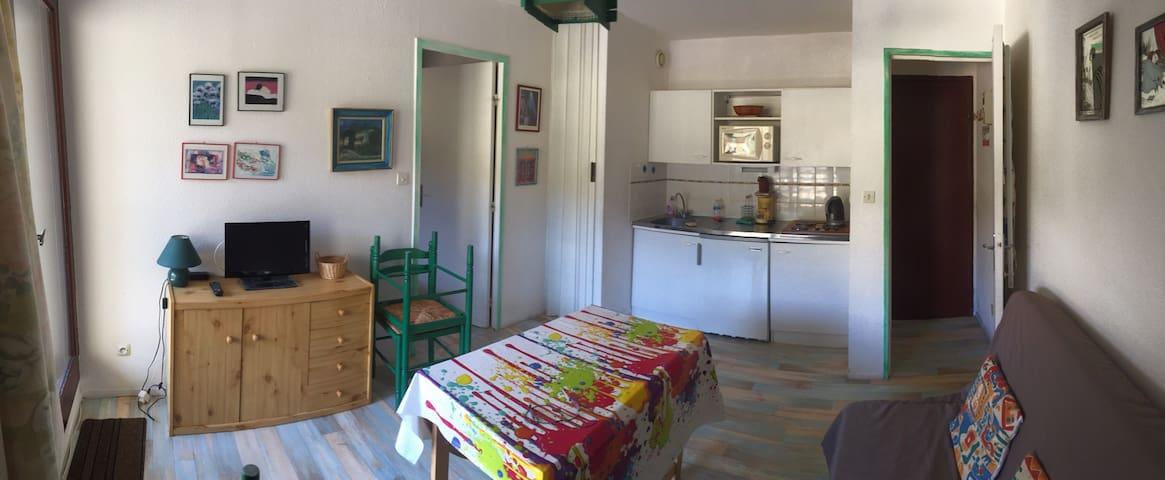 Petit appartement T2 avec balcon, Bolquère - Bolquère - Apartment