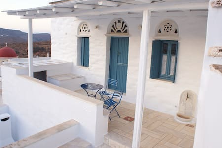 Panoramic View, Traditional Cycladic House.