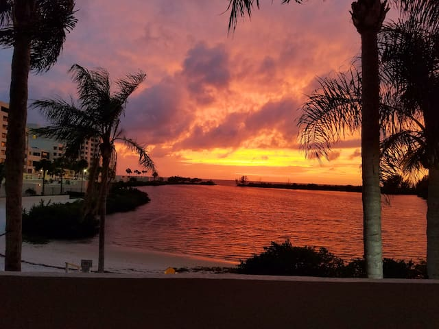 Waterfront Gulf Island FL  Sunsets from Lanai!