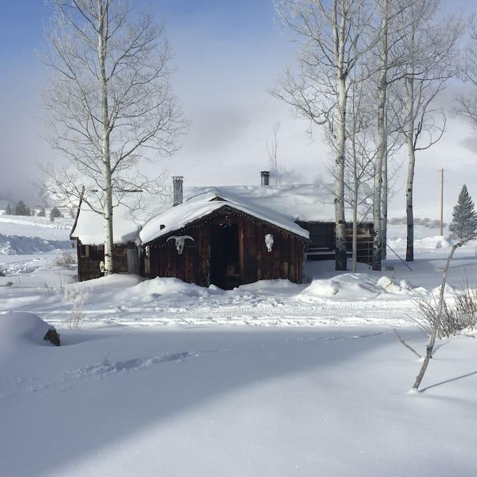 Calamity trading post galaxy cabin cabins for rent in for Winter cabin rentals colorado