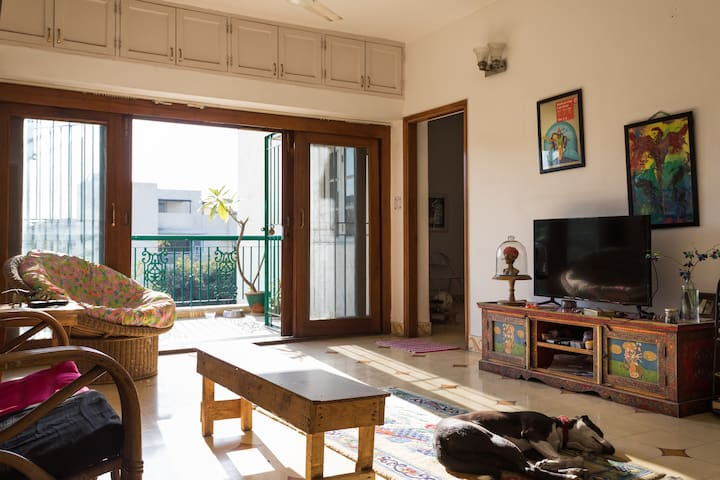 One room in apartment of a designer and cartoonist - Nueva Delhi - Apartamento