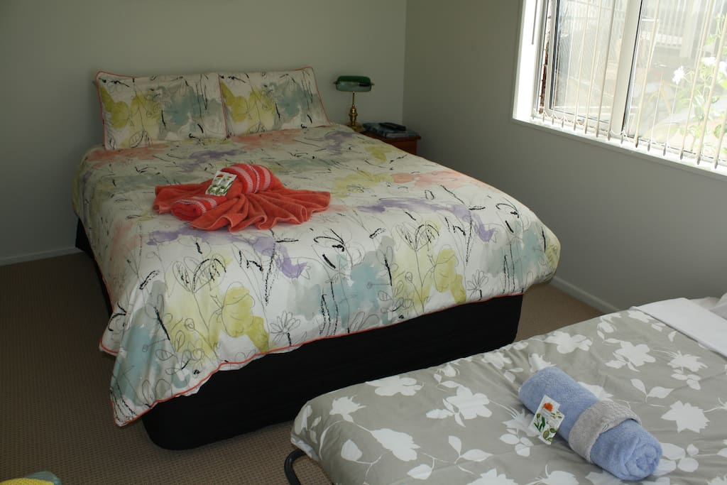 Tranquility Suite with guests able to request a roll-out bed if 2 beds are required - i.e. up to 3 people in total.
