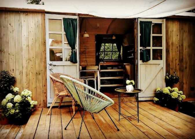 Ubytování pod sklárnou v domku KIWI
