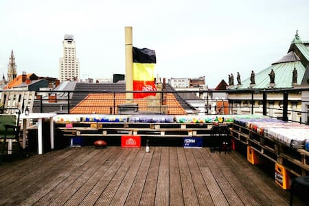Antwerp bachelor pad with huge roof terrace! - Anvers - Pis