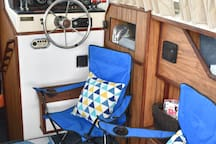 Relax inside or on the Sea Ray porch or docks