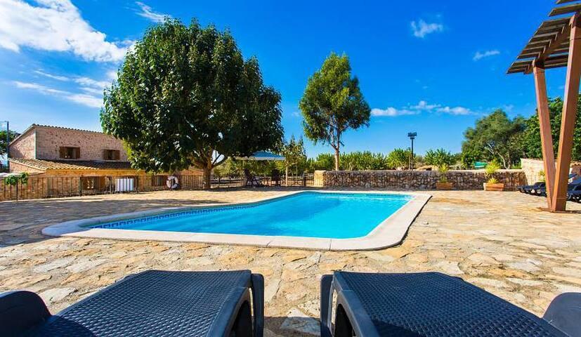 Rustica con piscina, 8 plazas - Sencelles - Dům