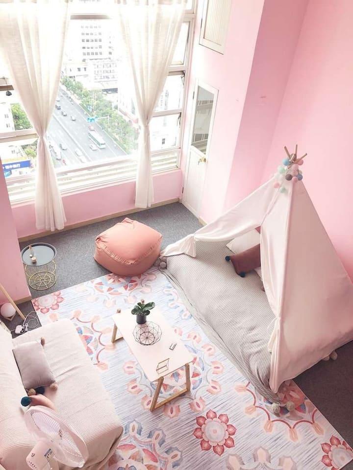 Z4|金鹰南屏街粉色|Loft复式|地铁