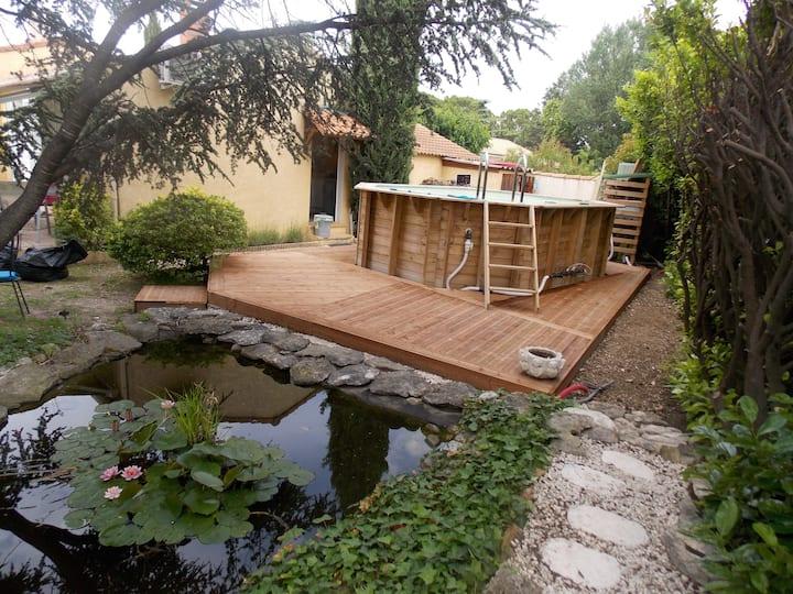 Villa avec piscine proche de l'Isle sur La Sorgue