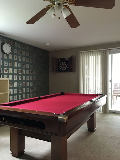 Pool Table with Darts