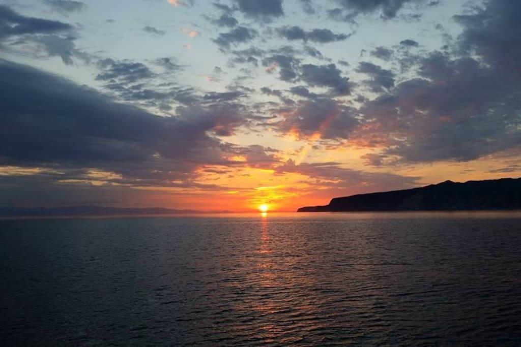 Sunrise over Avalon