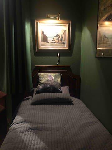 Behaglig sovplats och säng