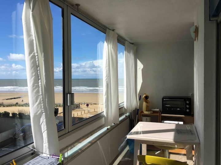 Charmant studio vue sur mer avec balcon et parking