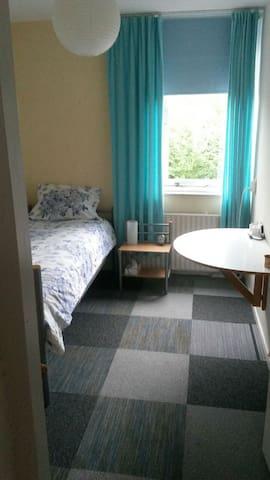 De logeerkamer met Pullman matras.