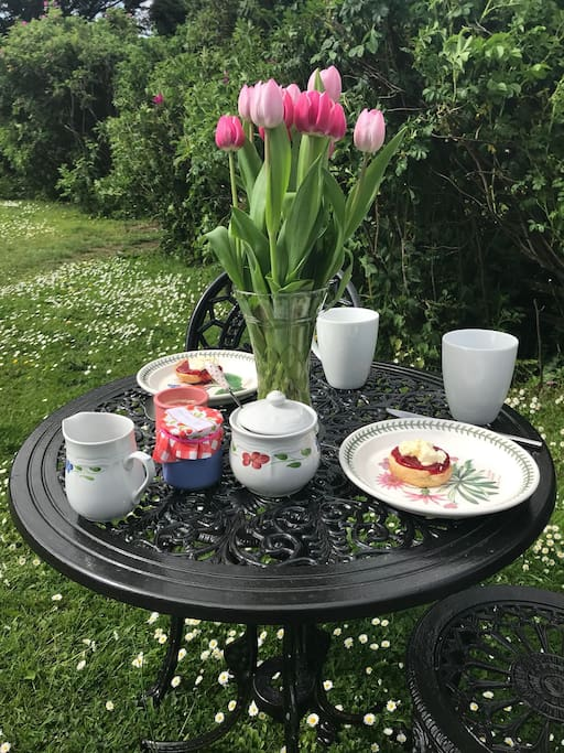 Have your cream tea or meals outside
