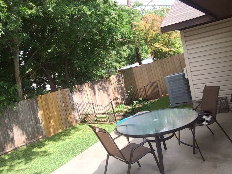 Outside patio and yard