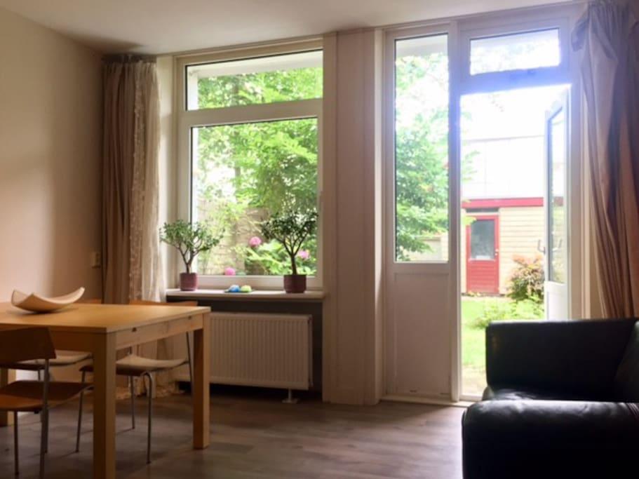 The bright livingroom
