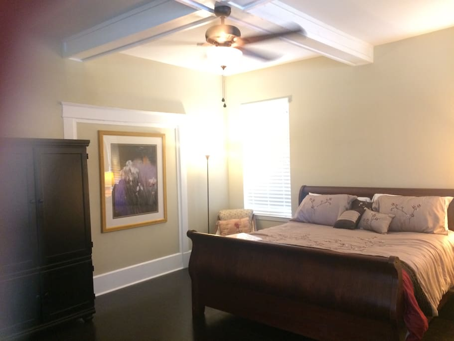 Lovely room with a large armoire