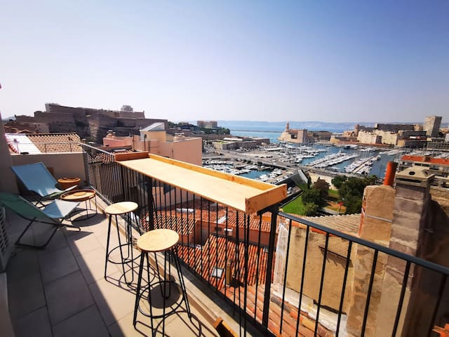 Appartement : The View. Panorama mer & vieux port