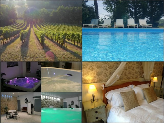 Place in the vines with spa &  pool - Eynesse