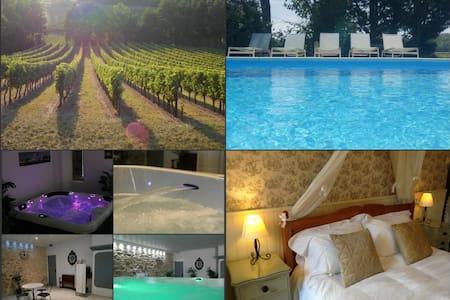 Place in the vines with spa &  pool - Eynesse - Hotel boutique