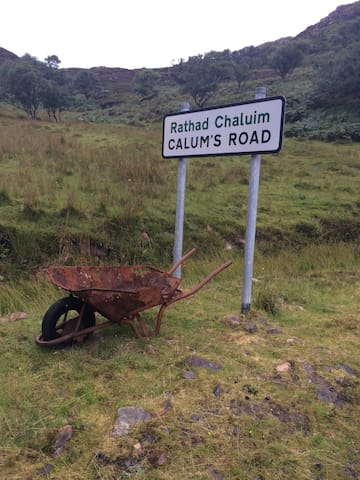 The beginning of Calums Road, we are at the end !