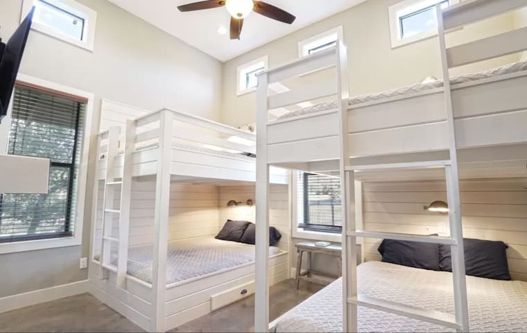 Room 3: sleeps 8, with your own bathroom and lots of closet space!