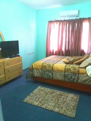 Room comes with a television and cupboard space