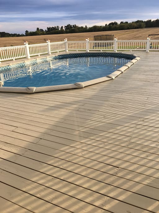 Pool and huge deck
