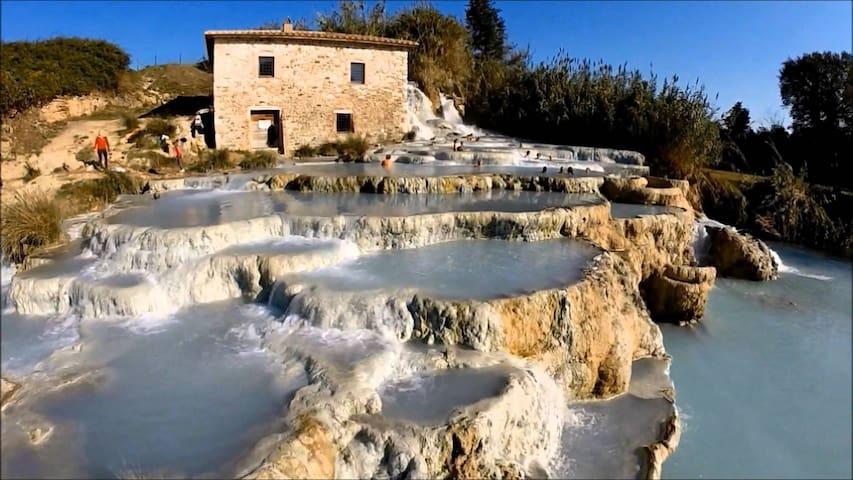 """Cascate del Mulino""  Saturnia thermal waterfalls"
