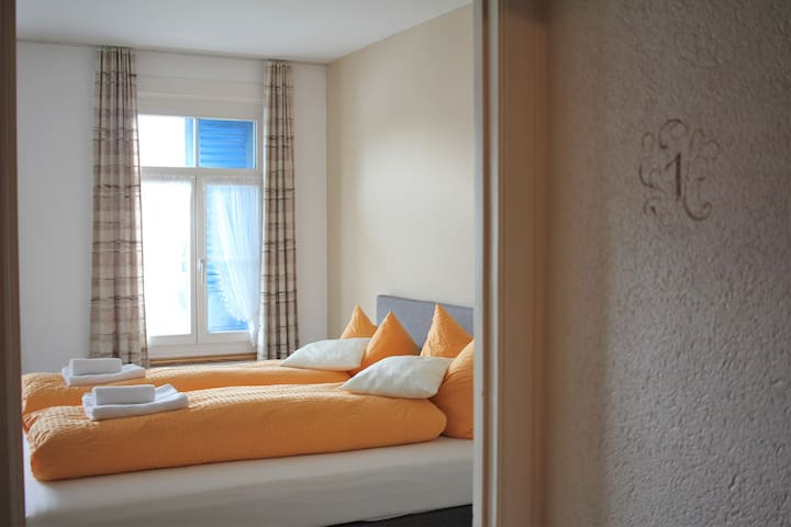 Double room at The Aarburg with great views - Unterseen - Bed & Breakfast