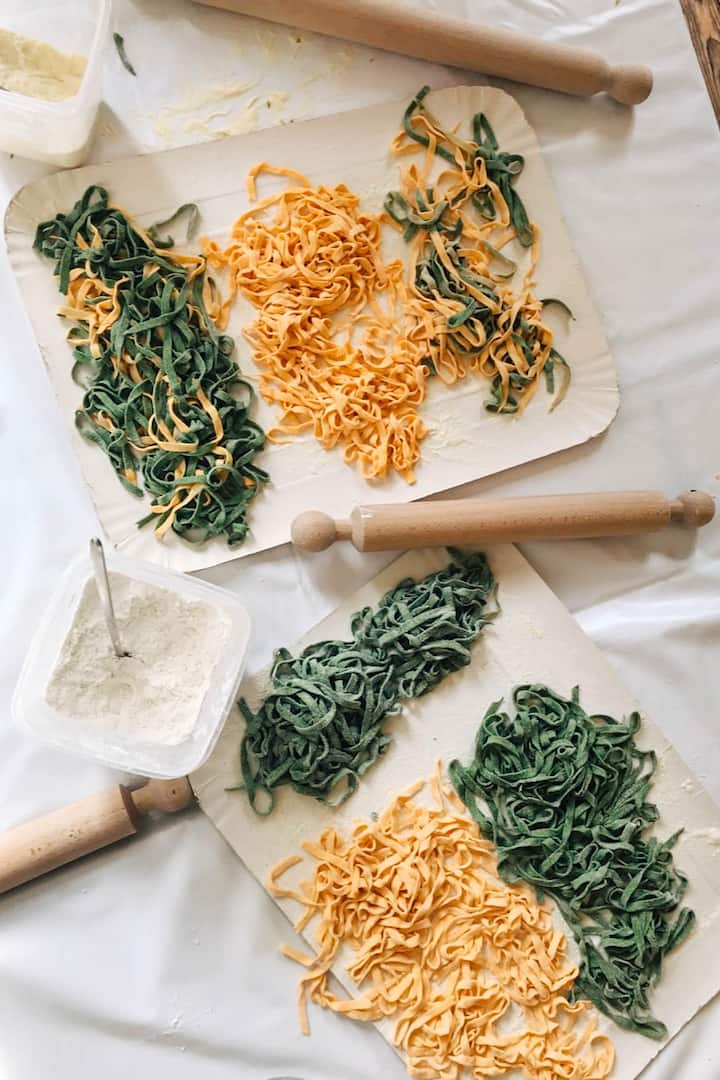 Colored  Tagliatelle