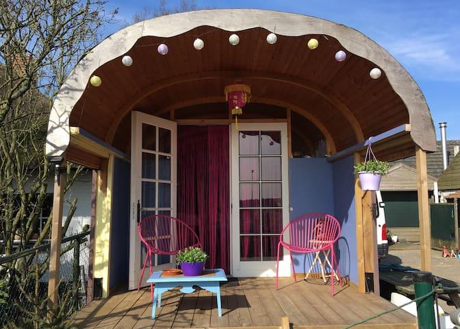 Unieke Pipowagen / Tiny house met super uitzicht