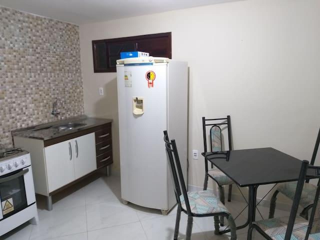 Apartamento de 1 quarto a 400 metros do centro.