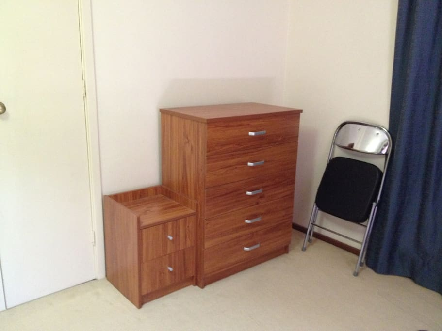 Chest drawers in bedroom