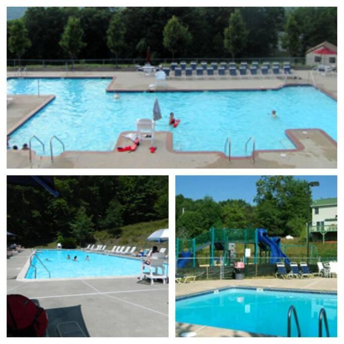 Three outdoor pools
