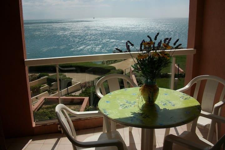 Sète : appartement face à la mer avec piscine