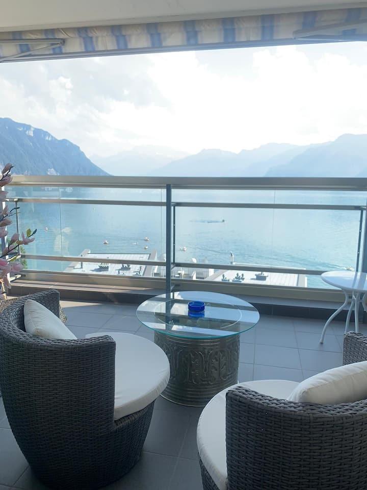 Appartement Montreux vue lac 85m2 4 couchages