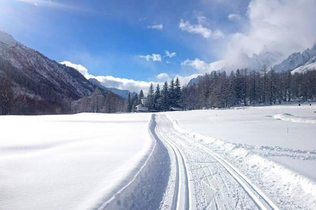 Le  nostre piste di sci di fondo a pochi minuti