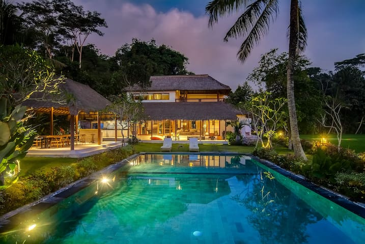 Ubud Jungle rice field villa by famous designer