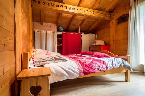 Guest room in a chalet